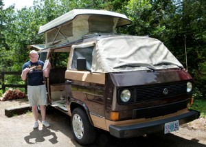 On 3rd attempt, Jeff Brown's '84 VW Vanagon GL finally makes it to the beach