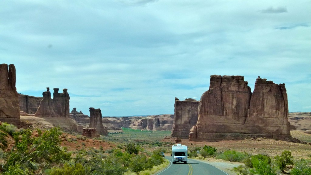 Arches National Park – rental RVs at every viewpoint