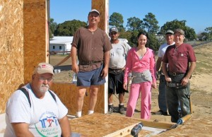 RV Care-A-Vanners working on 25 years building homes with Habitat for Humanity