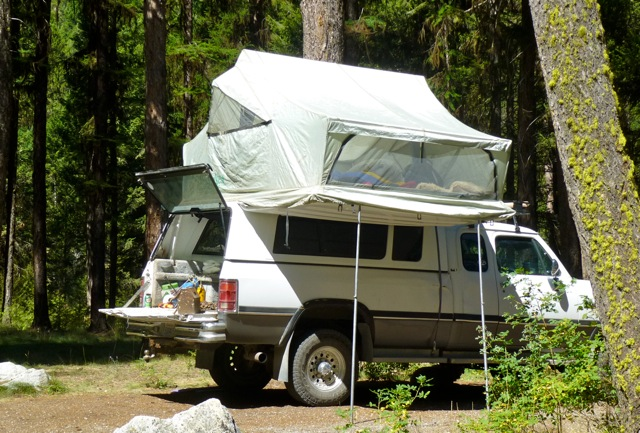 Roof top tents give economic camping options