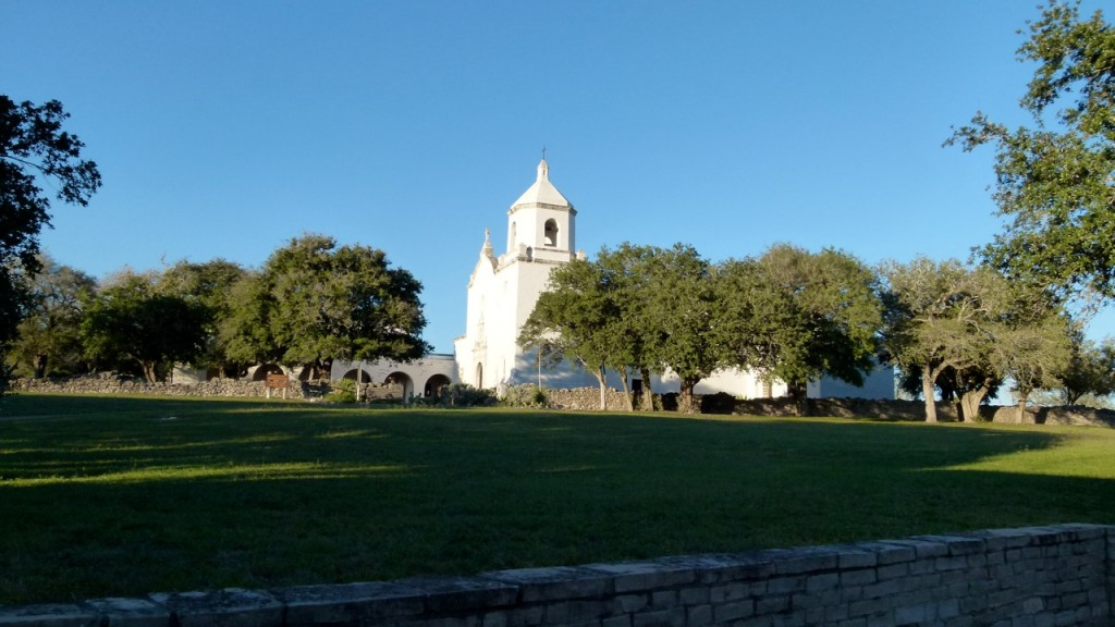 Mission Espiritu Santo in Goliad, Texas, celebrates 'History in Lights' during holidays