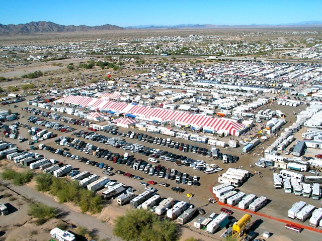 Update on Quartzsite, Part 2 — 'The Big Tent' RV Show, runs through Jan. 24, 2016