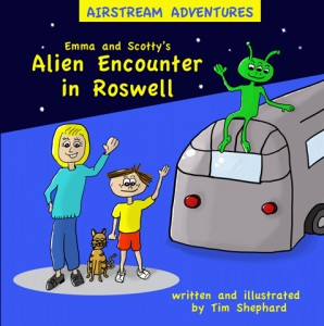 Tim Shephard launches his kids' Airstream book series with 'Emma and Scotty's Alien Encounter in Roswell'