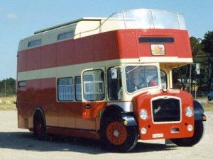 Fun vintage British double-decker bus conversion