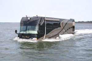 This amazing RV doesn't mind getting its wheels wet