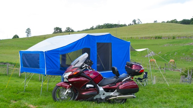 RVing and Motorcycling, part 4: 'Low profile, off-the-ground camper'