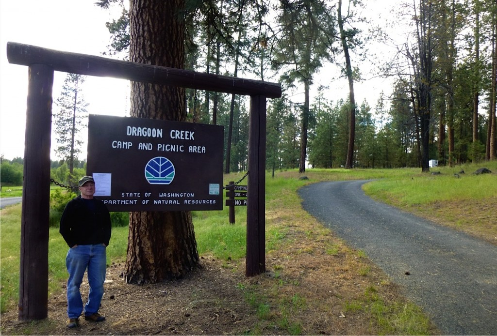Larry and Susan Dach host at Dragoon Creek public campground near Spokane, Wash.