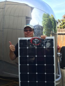 Vintage Airstream expert Tim Shephard shares enthusiasm for flexible solar panels