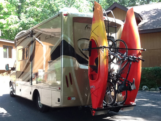 Styling RV kayak and bicycle rakes