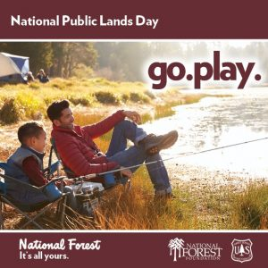 Remember National Public Lands Day, 'Go. Play.' 'Go. Discover.' 'Go. Help.' - Sat., Sept. 30