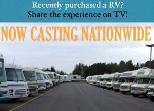 Chance to be on a new RV television show
