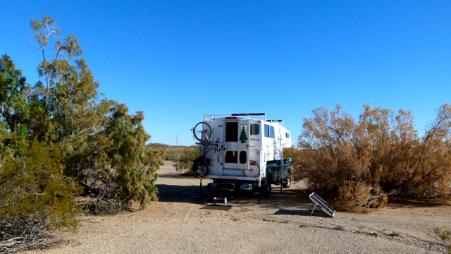 BLM Hot Spring LTVA perfect snowbird boondocking stop near I-8 between Yuma and El Centro