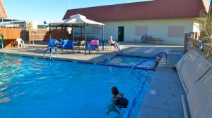 Stopped by Escapee Kofa Ko-op RV park in Yuma for laundry, shower and pool (swimming & billiards)
