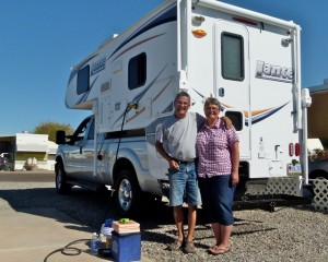 Canadian RV Snowbirds back in their little 'off the grid' home after winter in Southwest