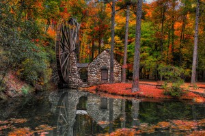 'Old Water Mill' magical autumn color