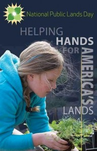 'Helping hands' for National Public Lands Day on 9/24/16 + free entrance day in all National Parks