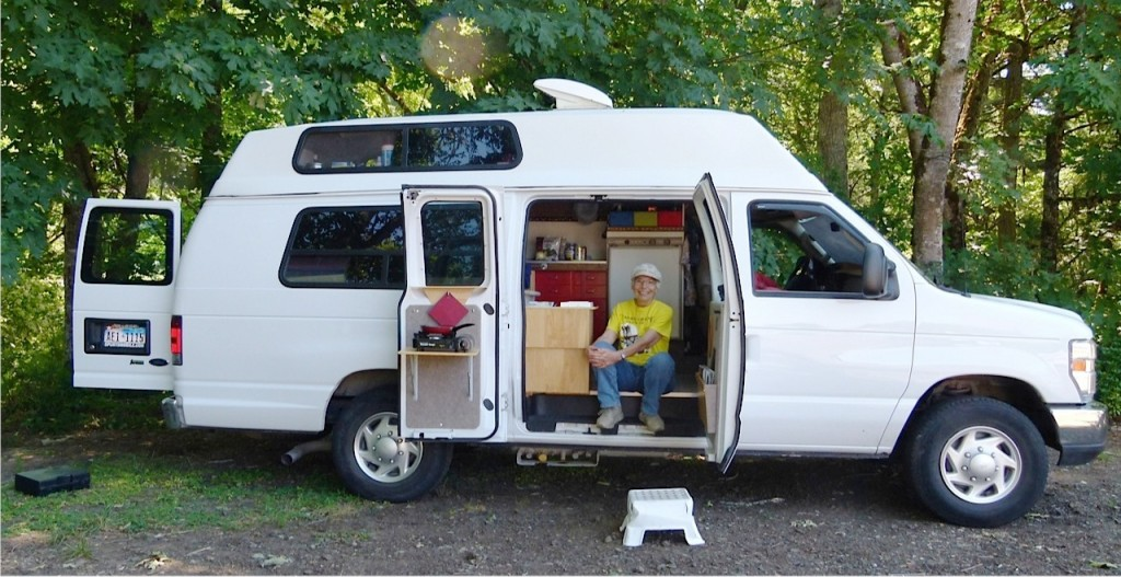 Solo full-time RVer Kate Bright travels back roads in her own van conversion