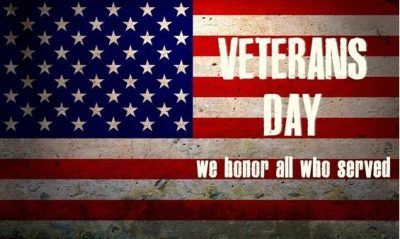 Thank you Veterans … Enjoy your weekend, you deserve it … and much, much more