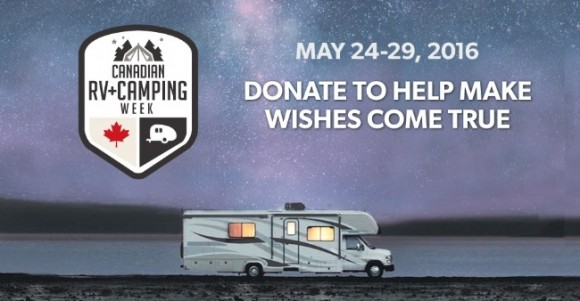 Canadian RV+Camping Week helps kids, Make-A-Wish