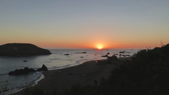 Harris Beach State Park, just north of California, is popular campground