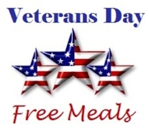 Free meals, discounts on Veterans Day Nov. 11