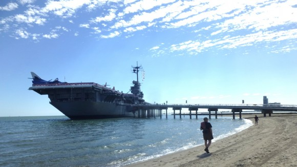 USSLexington-JimmySmith-Beach-JulianneGCrane