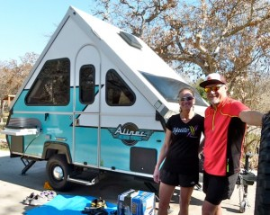 Folding A-frame trailers, part 2: Popular with active outdoors enthusiasts Kurt & Shelley Egli of Austin
