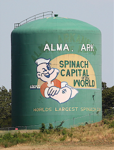 World's Largest Spinach Can, a day hike, ice cream = fun RV Short Stop near I-40 on a hot summer's day