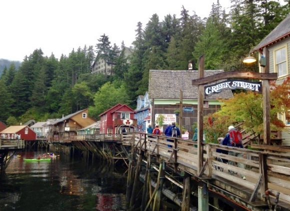Kitchikan – history, shopping, salmon within easy reach of Alaska Ferry dock