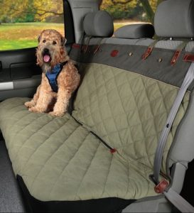 Holiday gift ideas for RVing pets, # 1: Solvit seat covers  are stylish, comfy, washable