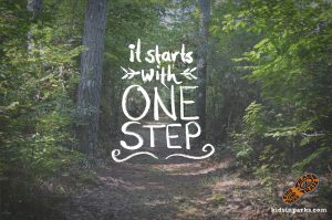 'It starts with one step' ... Kids in Parks