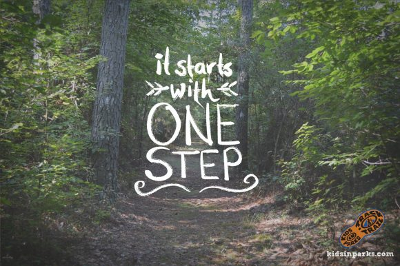 'It starts with one step' … Kids in Parks
