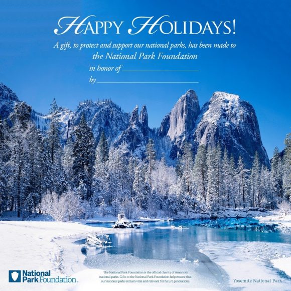 Looking for a quick, easy gift for your favorite outdoorsy friend, a tax deduction … and support our National Parks