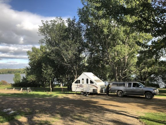 COE Crossing campgrounds on Lake Ashtabula in North Dakota